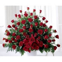 FULL RED ROSE BASKET