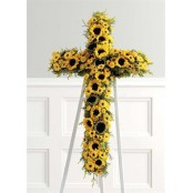 SUNFLOWER CROSS EASEL