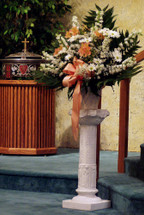 I WAS BLESSED TO HAVE KNOWN YOU- BASKET EASEL-PEACH/ORANGE & WHITE