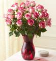 Two Dozen Long Stem Exotic Pink Roses