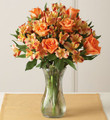 Orange Rose & Peruvian Lily Bouquet