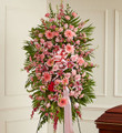 Pink Sympathy Standing Spray (Medium)