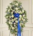 Blue and White Sympathy Standing Spray (Small)