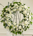 All White Standing Wreath (Small)