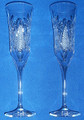 CRYSTAL IMPORTED FROM CROATIA ~ Champagne Gift Set, Set of 2 Flutes! RE-STOCKED! Discounted Price!
