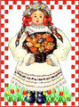 *CROATIAN EASTER CARDS ~ EGG GIRL ~ Exclusively Designed for Heart of Croatia Gifts