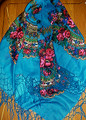 *Deep Turquoise Blue Medjimurje Shawl ~ Imported from Croatia ~   SECOND PRICE DROP! SOLD OUT!
