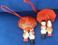 Ornament ~ Umbrella Couple ~ Imported from Croatia ~ Hand-Made: RE-STOCKED! PRICE DROP!