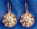 14 K Gold Sibenski Botuni Earrings ~4.22 grams~ Half Ball: RE-STOCKED! SECOND PRICE DROP!