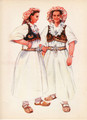 Vladimir Kirin Costume Prints ~ Imported from Croatia: Village of CAJDRAS, Bosnia (Numbered Print)