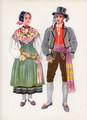 Vladimir Kirin Costume Prints ~ Imported from Croatia: KRANJSKA GORA, Slovenija (Numbered Print)
