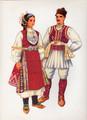 Vladimir Kirin Costume Prints ~ Imported from Croatia: Village of KOCANI, Macedonia (Numbered Print)