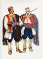Vladimir Kirin Costume Prints ~ Imported from Croatia: Krivosije, Crna Gora