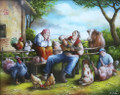 """Barnyard Serenade"" by Miroslav Pintar ~ 8 x 10 ~ OUT OF STOCK ~"