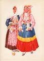 *Vladimir Kirin Costume Prints ~ Imported from Croatia: Mljet-Peljesac, Dalmacija, Croatia