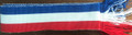 **Handmade WOVEN Traditional Men's Sash, Croatian Red-White-Blue, Appropriate for Many Costumes: Imported from Croatia! NEW!