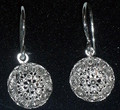 Sterling Silver Half Ball Botuni Earrings, 3.5g  ~ Imported From Croatia