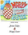 *CROATIAN EASTER CARDS ~ Exclusively Designed for Heart of Croatia Gifts by Kresimir Bajsic