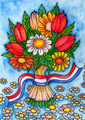 All Occasion Cards ~ Flower Bouquet Card by Croatian Artist Kresimir Bajsić