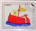 ****Magnet, Original Images by Croatian Artist, Mario Barisin: MagnetBoatRedBarisin