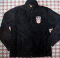 Fleece Jacket with Embroidered Croatia Grb Patch