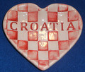 SAHOVNICA Heart Plate by Ceramic Artist, Mario Barisin: Imported from Croatia: Limited Quantity! Signed by the Artist! RE-STOCKED!