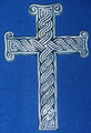 *PLETER CROSS, Ceramic, Created by Mario Barisin & Imported from Croatia! (Grey-Blue): SOLD OUT!