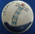"""Wine Bottle Cork with Ceramic Top, Created by Mario Barisin, """"Adriatic Lighthouse"""" (Blue) SOLD OUT!"""