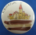 """Wine Bottle Cork with Ceramic Top, Created by Mario Barisin, """"Croatian Town"""" SOLD OUT!"""