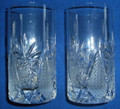 Crystal Water Glasses, Set of 2, from Samobor, Croatia: ONE SET AVAILABLE! NEW!