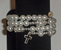 Pearl Rosary BRACELET Imported from Međugorje (Comes with religious card): RE-STOCKED!