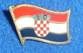 Lapel Pin, Croatian Flag: Limited Quantity Available!