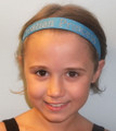 """**Headband, Turquoise with """"Croatian Princess"""" in Bling, One Size Fits All! NEW!"""