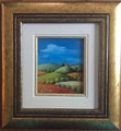 "*ISTRIAN VILLAGE LIFE: ""Istrian Hilltop Village with Church"" Reverse Glass Painting by Sonja Pintar, ORIGINAL ART: NEW!"