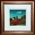 "*ISTRIAN VILLAGE LIFE: ""Countryside"" Reverse Glass Painting by Sonja Pintar, ORIGINAL ART: NEW!"