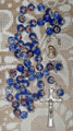 *MURANO Crystal Bead Rosary, Imported from Medjugorje! (Croatian Colors: Blue with Red) RESTOCKED!