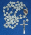 *MURANO Crystal Bead Rosary, Imported from Medjugorje! (White) RE-STOCKED!