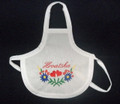 "*Wine Bottle Apron, Embroidered ""HRVATSKA,"" Imported from Croatia: NEW!"