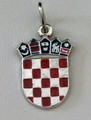 GRB: Sterling Silver Enamel, 3.8g,  Imported from Croatia: NEW LARGER SIZE! RE-STOCKED!