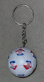 **KEYCHAIN with Croatian SOCCER BALL: Imported from Croatia! NEW! (white) RE-STOCKED!