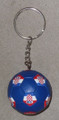 **KEYCHAIN with Croatian SOCCER BALL: Imported from Croatia! RE-STOCKED! (blue)