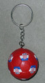 **KEYCHAIN with Croatian SOCCER BALL: Imported from Croatia! NEW! (red) RE-STOCKED!