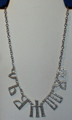 "***Croatian Heritage Jewelry: GLAGOLJICA Necklace, Spelling out ""Croatia""  Imported from Croatia: NEW!"
