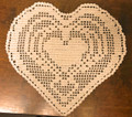 ****Crocheted Lace from Croatia, Hearts Design: NEW! (off-white) SOLD OUT!