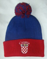 "****Stocking Cap with PomPom, Embroidered GRB (Croatian crest) and ""Croatia!"""