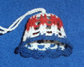 BELL ORNAMENT, Croatian Colors: Handmade (Starched) Crocheted Lace from Croatia by Durda Janes, NEW! (2) SOLD OUT!