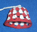 BELL ORNAMENT, Šahovnica: Handmade (Starched) Crocheted Lace from Croatia by Durda Janes, NEW! SOLD OUT!