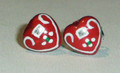 LICITAR HEART JEWELRY, Earrings 1.1g, Hand-Painted and Imported from Croatia: NEW!