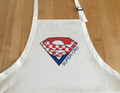 "**Apron ~ ""Super Cro"" ~ Apron ~ WHITE   (NEW!)"