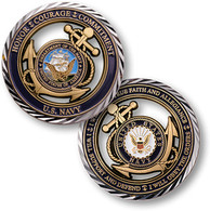 CORE VALUES COIN - U.S. NAVY